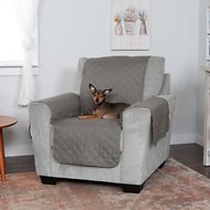FurHaven Water-Resistant Reversible Chair Protector, Gray/Mist