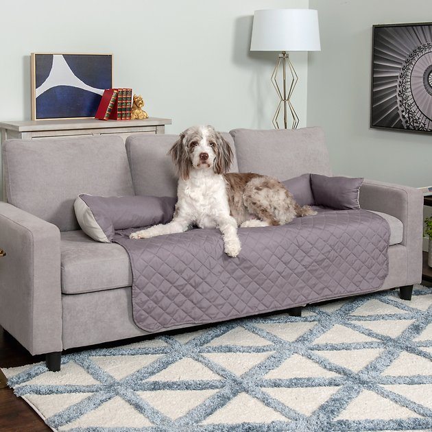 Furhaven Sofa Buddy Pet Bed Furniture Cover X Large Gray