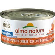 Almo Nature Complete Chicken Recipe with Cheese Grain-Free Canned Cat Food, 2.47-oz, case of 12