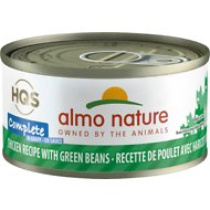Almo Nature Complete Chicken Recipe with Green Beans Grain-Free Canned Cat Food, 2.47-oz, case of 12