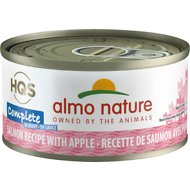 Almo Nature Complete Salmon Recipe with Apples Grain-Free Canned Cat Food, 2.47-oz, case of 12