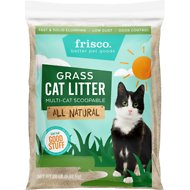 Frisco All Natural Grass Clumping Cat Litter, 20-lb bag