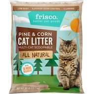 Frisco All Natural Pine & Corn Clumping Cat Litter, 28-lb bag