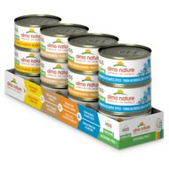 Almo Nature Natural Chicken & Tuna Variety Pack Grain-Free Canned Cat Food, 2.47-oz, case of 12