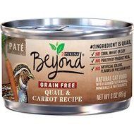 Purina Beyond Quail & Carrot Pate Recipe Grain-Free Canned Cat Food, 3-oz, case of 12