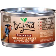 Purina Beyond Pheasant & Sweet Potato Pate Recipe Grain-Free Canned Cat Food, 3-oz, case of 12