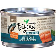 Purina Beyond Arctic Char & Spinach Pate Recipe Grain-Free Canned Cat Food, 3-oz, case of 12