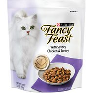 Fancy Feast Gourmet Savory Chicken & Turkey Dry Cat Food, 16-oz bag, pack of 4