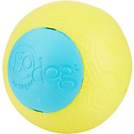 GoDog RhinoPlay Beast Yellow & Teal Dog Toy, Junior