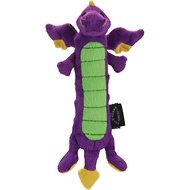 GoDog Dragons Skinny Chew Guard Dog Toy, Purple, Small