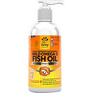 Zesty Paws Wild Omega-3 Fish Oil Plus Antarctic Krill Oil Dog Supplement, 16-oz bottle