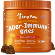 Zesty Paws Allergy Immune Bites Digestive Health Dog Supplement, 90 count