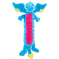 GoDog Dragons Skinny Chew Guard Dog Toy, Blue, Large
