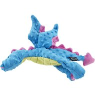 GoDog Dragons Flats Chew Guard Dog Toy, Blue, Large
