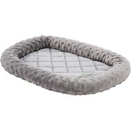 GoDog BedZzz Bubble Bolstered Dog & Cat Crate Mat, Gray, X-Small
