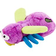 GoDog Bugs Chew Guard Fly Dog Toy, Purple, Small
