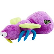 GoDog Bugs Chew Guard Fly Dog Toy, Purple, Large