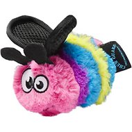 GoDog Bugs Bee Chew Guard Plush Squeaker Dog Toy, Multi, Small
