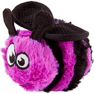 GoDog Bugs Bee Chew Guard Plush Squeaker Dog Toy, Purple, Small