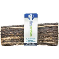Barkworthies Quartered Elk Antler Dog Chew, 4 count