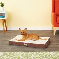 Petlinks Snooze Pad Convoluted Foam Dog & Cat Bed, Cream & Brown, Medium
