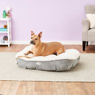 Petlinks Deluxe Dreamer Memory Foam Dog & Cat Bed, Cream & Gray, Large
