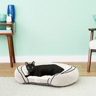 Petlinks Supreme Soother Gel Memory Foam Dog & Cat Bed, Cream & Gray, Medium