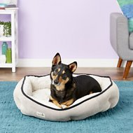 Petlinks Soothing Escape Gel Memory Foam Dog & Cat Bed, Cream & Gray, Large