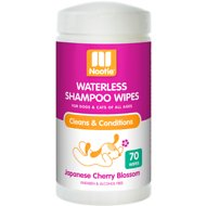 Nootie Japanese Cherry Blossom Dog & Cat Waterless Shampoo Wipes, 70 count