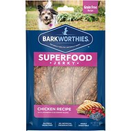 Barkworthies Chicken with Cranberry & Blueberry Superfood Jerky Dog Treats, 4-oz bag