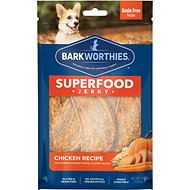 Barkworthies Chicken with Pumpkin, Sweet Potato & Carrot Superfood Jerky Dog Treats, 4-oz bag