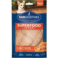 Barkworthies Turkey with Pumpkin, Sweet Potato & Carrot Superfood Jerky Dog Treats, 4-oz bag