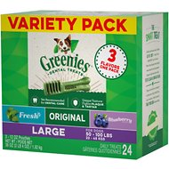 Greenies Variety Pack Large Dental Dog Treats, 24 count