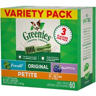 Greenies Variety Pack Petite Dental Dog Treats, 60 count