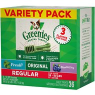 Greenies Variety Pack Regular Dental Dog Treats, 36 count