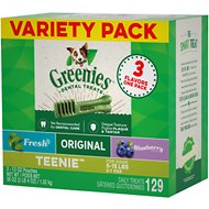 Greenies Variety Pack Teenie Dental Dog Treats, 129 count