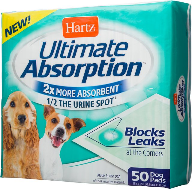 Hartz Ultimate Absorption Dog Pads, 50 count - Chewy.com