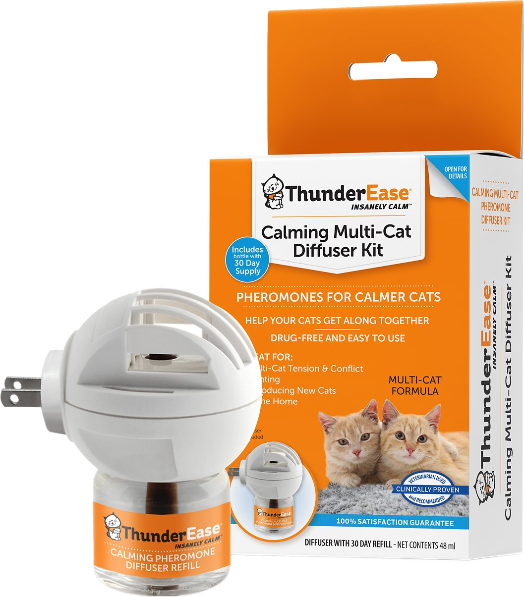 Thunderease Multi Cat Calming Diffuser Kit Chewy Com
