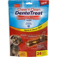 Hartz Chew 'n Clean DentaTreat Dog Treat, Tiny/Small, 24 count