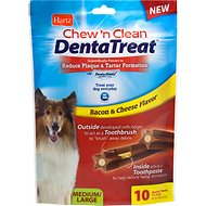 Hartz Chew 'n Clean DentaTreat Dog Treat, Medium/Large, 10 count