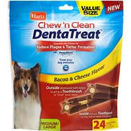 Hartz Chew 'n Clean DentaTreat Dog Treat, Medium/Large, 24 count