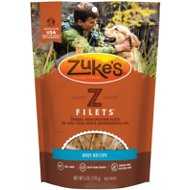 Zuke's Z-Filets Beef Recipe Grain-Free Dog Treats, 6-oz bag
