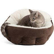 Best Friends by Sheri OrthoComfort Ilan Deep Dish Cuddler Dog & Cat Bed, Dark Chocolate