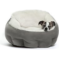 Best Friends by Sheri OrthoComfort Ilan Deep Dish Cuddler Dog & Cat Bed, Grey, Standard