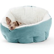 Best Friends by Sheri OrthoComfort Ilan Deep Dish Cuddler Dog & Cat Bed, Tide Pool