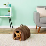 Best Friends by Sheri Ilan Igloo Dog & Cat Bed, Dark Chocolate