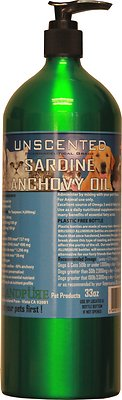 Iceland Pure Pet Products Unscented Pharmaceutical Grade Sardine & Anchovy Oil Liquid Dog & Cat Supplement