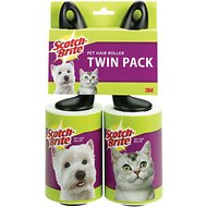Scotch-Brite Pet Hair Roller, 56-sheets, 2 count