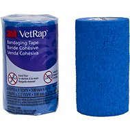 3M VetRap Hand Tear Equine Bandaging Tape, 4-in, Blue