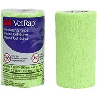 3M VetRap Hand Tear Equine Bandaging Tape, 4-in, Lime Green